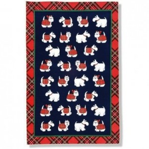 Household - Tea Towel - Tartan Westie