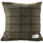 Cushion - Glen Appin - Brown Check (red) - Square - front