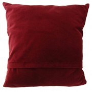 Cushion - Glen Appin - Brown Check (red) - back