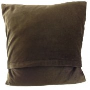 Cushion - Glen Appin - Dogtooth (brown) - back