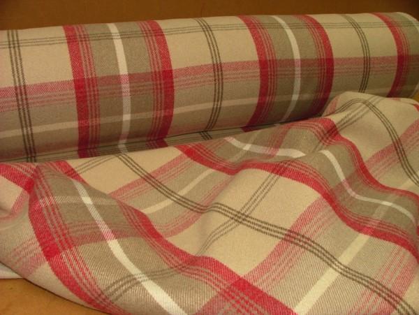 Fabric - Balmoral - Cranberry (2)