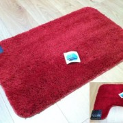 Household - Allure - Bath Mat - Burgundy^Red