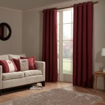Anderson - Red - Tweed-look curtain