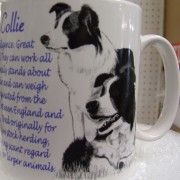 Border Collie - back - Mug