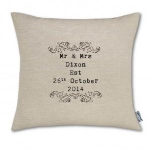 Wedding Scroll Cushion