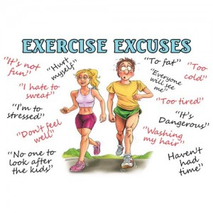 Microfibre cloth - Exercise Excuses