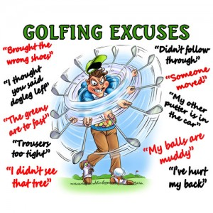 Microfibre cloth - Golf Excuses