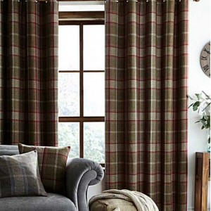 Curtains - Highland Check - Red^Green