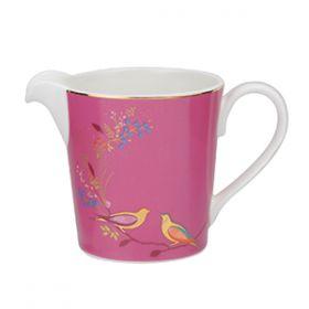 Sara Miller - Cream Jug - Pink Birds 01
