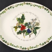 Holly and the Ivy - Oval handled platter 01
