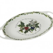 Holly and the Ivy - Oval handled platter 02