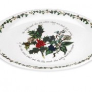 Holly and the Ivy - Oval handled platter 03