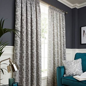 Buckingham Curtains - Grey 01