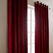 Crushed Velvet Curtain - Blackcurrant 01