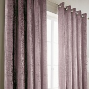 Crushed Velvet Curtain - Mauve 01