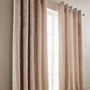 Crushed Velvet Curtain - Mink 01