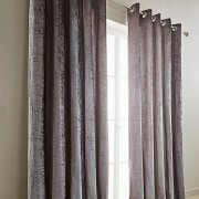 Crushed Velvet Curtain - Silver 01