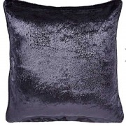 Crushed Velvet Cushion - Black 01