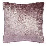Crushed Velvet Cushion - Mauve 01