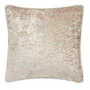 Crushed Velvet Cushion - Mink 01