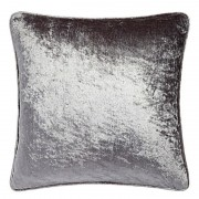 Crushed Velvet Cushion - Silver 01