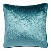 Crushed Velvet Cushion - Teal 01