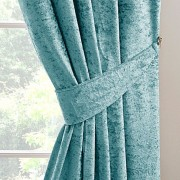 Crushed Velvet Tieback - Teal 01