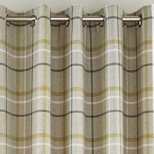 Hudson Woven Curtains - Green 01