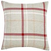 Hudson Woven Cushion - Red 01