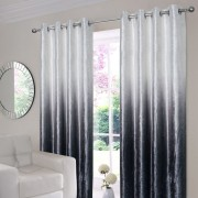 Ombre Velvet Curtains - Grey