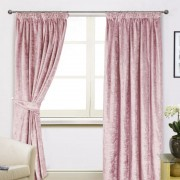 Scarpa Velvet Curtains & Tieback - Blush 01