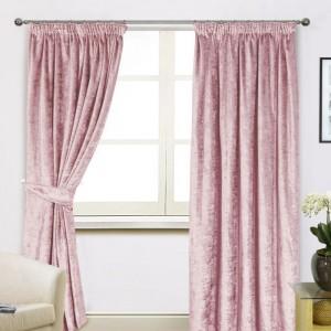 Scarpa Velvet Curtains & Tieback - Blush 01 - Copy