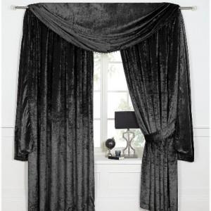 Scarpa Velvet Scarf & Curtains - Black 01