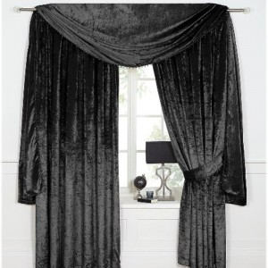 Scarpa Velvet Scarf & Curtains - Black 01 - Copy