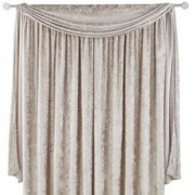 Scarpa Velvet Scarf & Curtains - Mink 01