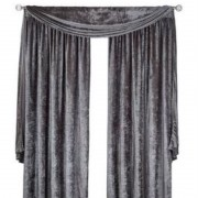 Scarpa Velvet Scarf & Curtains - Silver 01