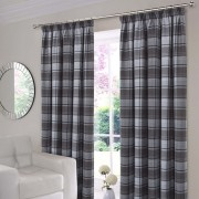 Shetland Check Curtains - Grey