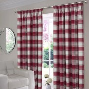 Shetland Check Curtains - Wine