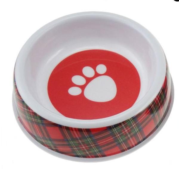 Tartan Dog Bowl