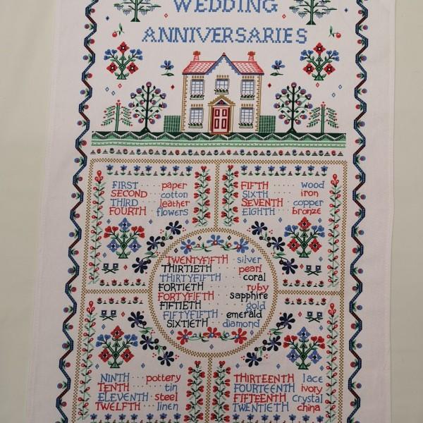 Ulster Weavers - Wedding Anniversary Tea Towel (Cotton)