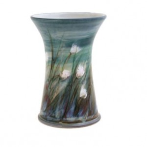 Highland Stoneware - Cotton Grass - Cylinder Vase - X-small