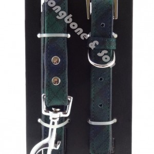 Dog Collar - Black Watch - with watermark