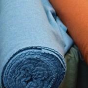 Lezan - Wool-Rich Fabric - Green, Mid-Blue, Terracotta