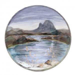 Highland Stoneware - Landscape - Geo Dish - Medium
