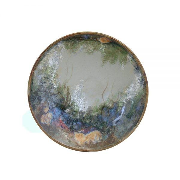 Highland Stoneware - Rockpool Celadon - Geo Dish - medium