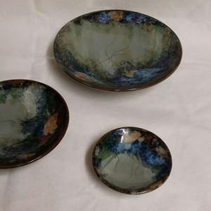 Highland Stoneware - Rockpool Celadon - Geo Dish - small 05