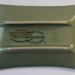 Highland Stoneware - Rockpool Celadon - Rectangular Dish - X-small - Reverse