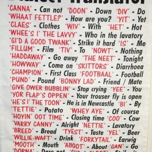 Tea Towel - Dialect - Geordie