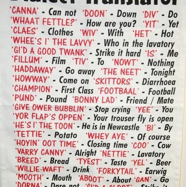 Tea Towel - Dialect - Geordie