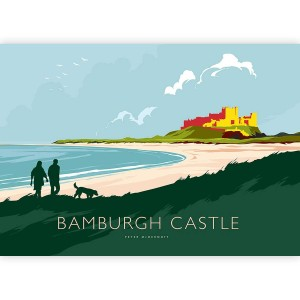 Mounted Print - Peter McDermott - Bamburgh Castle